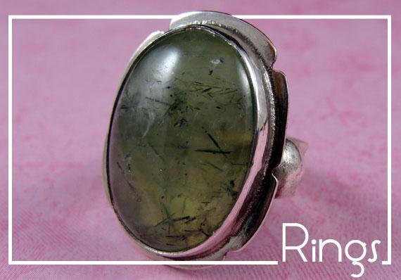 Stone Jewelry Box Shop Rings